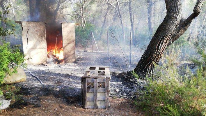 Alarma en Ibiza por un incendio forestal