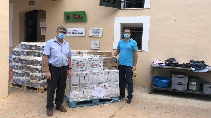 Emaya entrega más de 400 kilos de productos de primera necesidad a Las Hermanitas de los Pobres y a Es Refugi