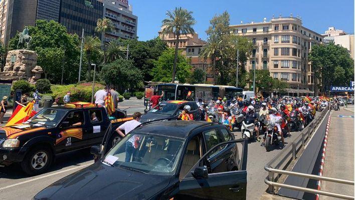 La marcha de Foro Baleares contra el Gobierno congrega a más de 300 vehículos