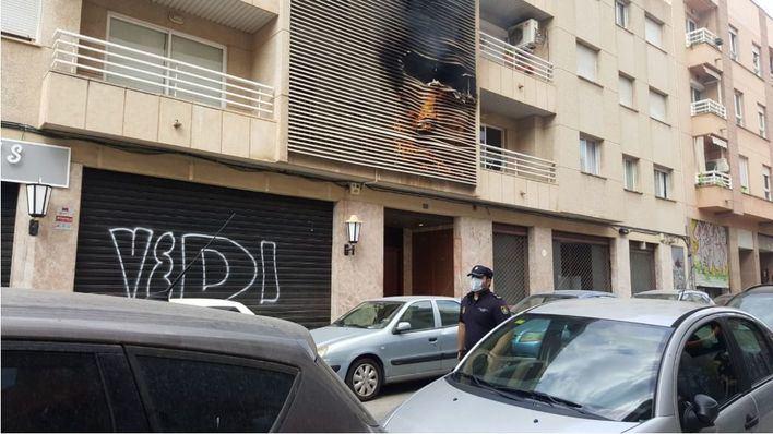 Incendio en un piso de la calle Rodríguez Arias de Palma