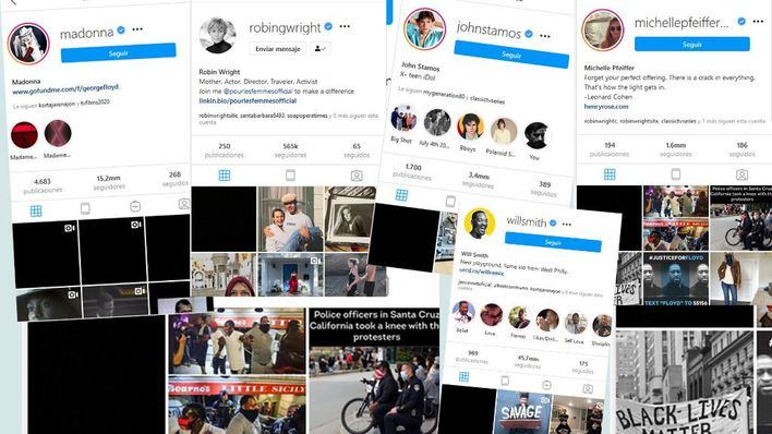 Las redes sociales se vuelcan con George Floyd con un apagón multitudinario