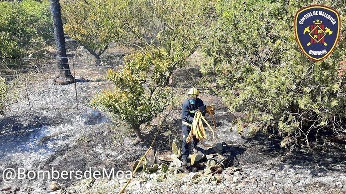 Sa Pobla suma tres incendios forestales en una sola jornada