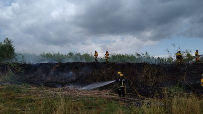 Extinguido un incendio en el Torrent de Sant Miquel
