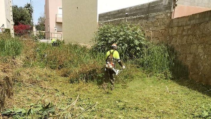 El Ayuntamiento retira 86 toneladas de basuras y escombros de torrentes de Palma