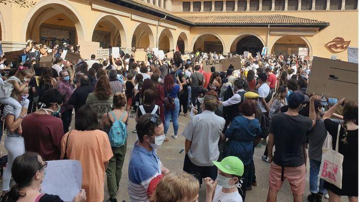 Masiva concentración en Palma contra el racismo