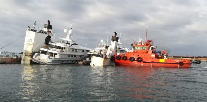 Alarma en el Puerto de Palma por el hundimiento de un mercante