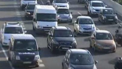 Grandes retenciones en los accesos a Palma por dos accidentes