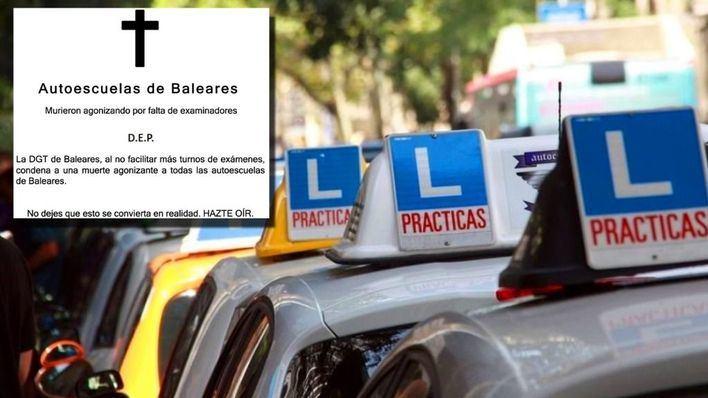 SOS de las autoescuelas de Baleares, con 5.000 alumnos esperando examen