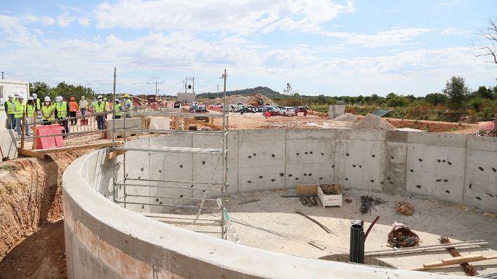 La ampliación de la depuradora de Porreres dará servicio al doble de población