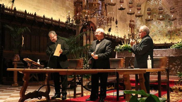 Monseñor Josep Adrover jura su cargo como nuevo vicario general de la Diócesis de Mallorca