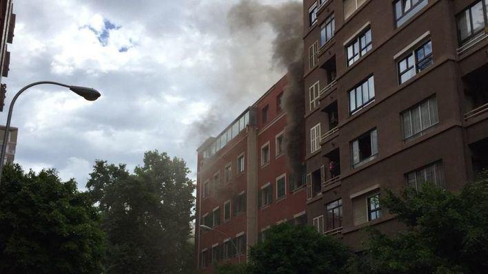 El incendio en una vivienda de la calle Ramón y Cajal de Palma destruye el lavadero y la cocina