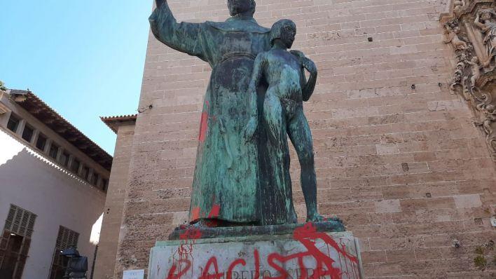 El Obispado condena el ataque a Fra Juníper Serra: 'Hizo sacrificios heroicos para proteger a los indígenas'