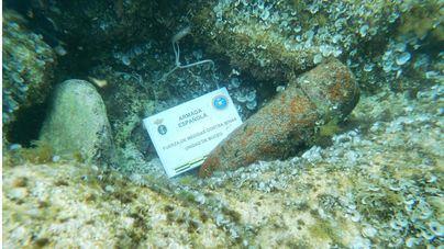 Desactivado un proyectil localizado en aguas de Menorca