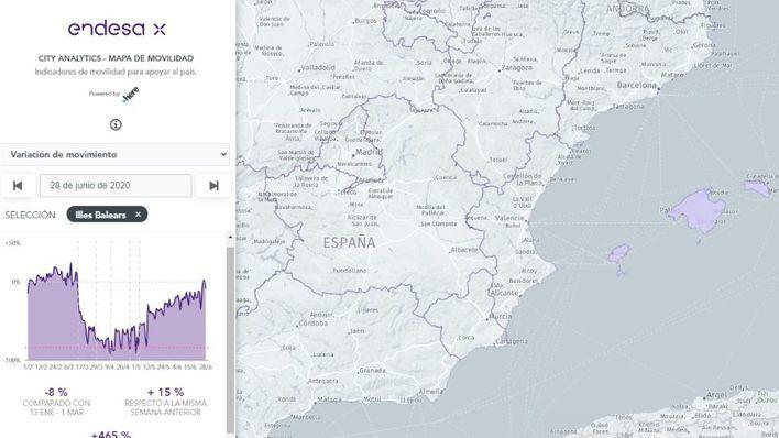 El 10 de abril, día récord de baja movilidad en Baleares