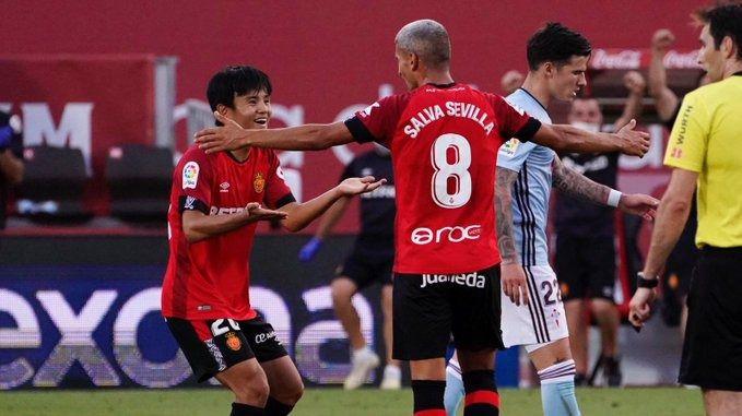 El Mallorca aplasta al Celta y sigue soñando con la permanencia (5-1)