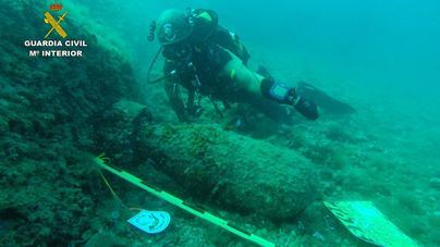 Localizan dos artefactos explosivos en aguas de Baleares