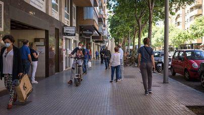 Palma es la ciudad donde más baja el tráfico peatonal en la primera semana de rebajas