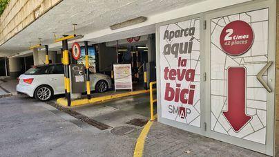 El aparcamiento de Plaça Major estrena un espacio para 42 bicicletas