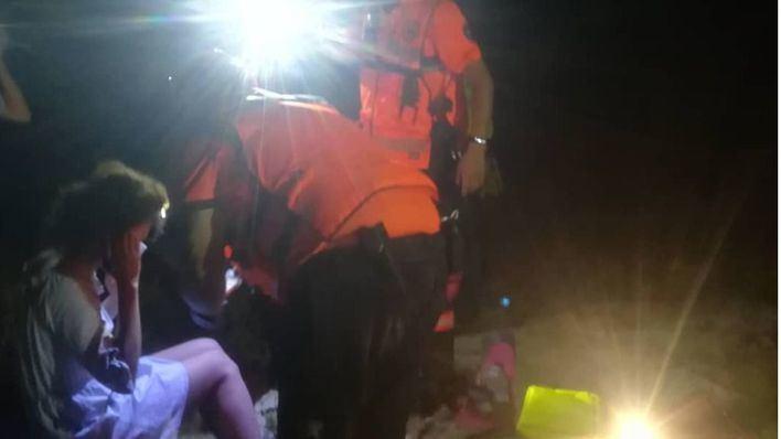 Imágenes del rescate de la mujer atrapada cuando practicaba snorkel en Cap Blanc