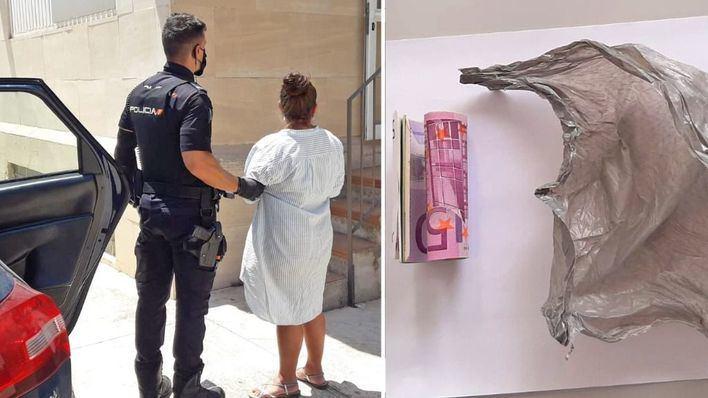 Roba la cartera a un turista en Platja de Palma y oculta el dinero en sus genitales