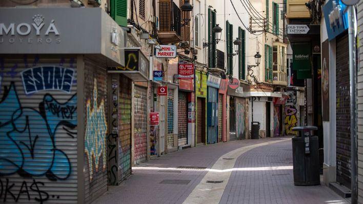 Más de 80 pequeños comercios del centro de Palma permanecen cerrados tras el estado de alarma