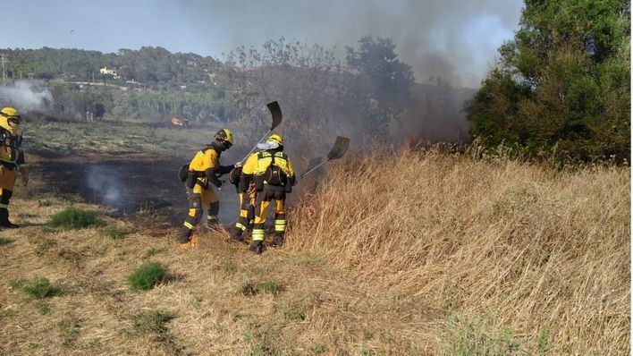 Segundo día consecutivo de incendios en terrenos agrícolas de sa Cabaneta