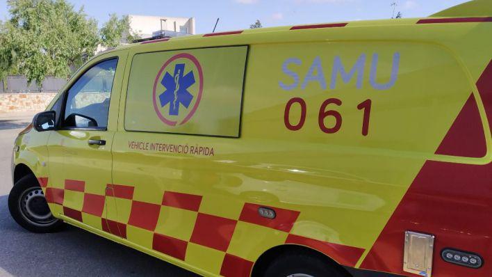 Dos heridos graves en una colisión frontal entre un coche y una furgoneta en Santanyí