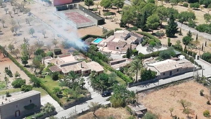 Dos incendios, en Llucmajor y Establiments, movilizan a los operativos de emergencia