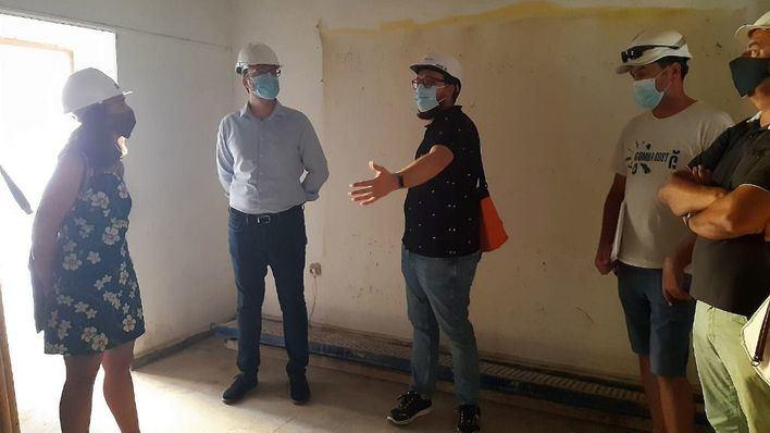 Visita de obras de Cort al parque público de viviendas del perímetro de la calle Aragón