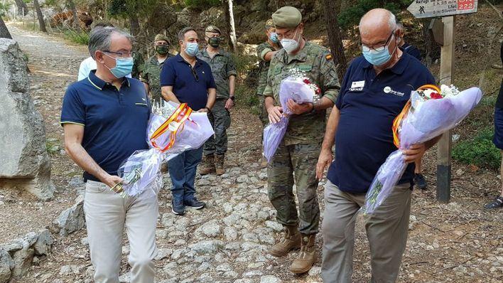 Emotivo homenaje en Selva al soldado Antonio Herrero, 26 años después de su fallecimiento
