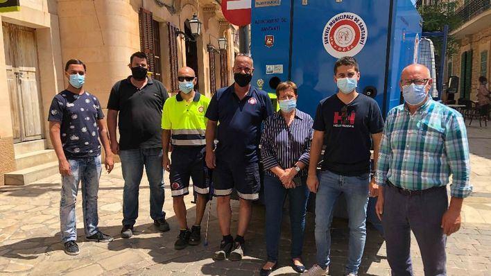 Santanyí incorpora una nueva máquina para la limpieza de calles