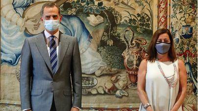 Economía y sanidad centran las audiencias de las autoridades de Baleares con el Rey, sin menciones a Juan Carlos I