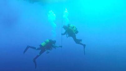 Retoman a 80 metros de profundidad la búsqueda de Fernando Garfella, el submarinista fallecido el domingo