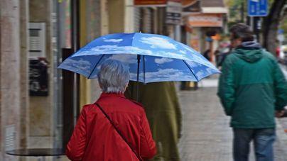 Nubes y precipitaciones ocasionales en Baleares