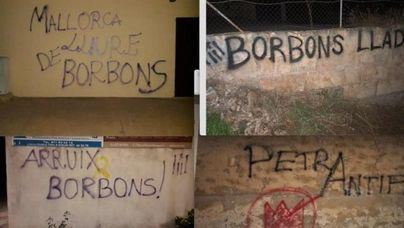 Vox pide responsabilidades por las pintadas vandálicas contra los Reyes en Petra