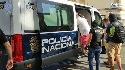 Los 34 detenidos de una red internacional de carteristas en Palma pasan a disposición judicial