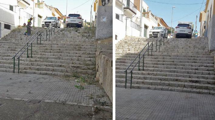 Emaya realiza 217 actuaciones para erradicar malas hierbas en los barrios de Palma