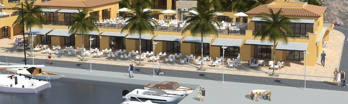 Maqueta de Puerto Portals una vez finalizada la remodelación en marcha
