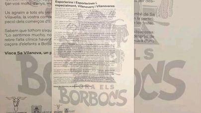 Vox denuncia que Esporles patrocina unas fiestas bajo el lema 'Fora els Borbons'
