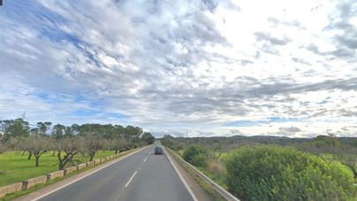 Herido en un accidente entre un camión y un coche en la carretera de Inca a Sineu