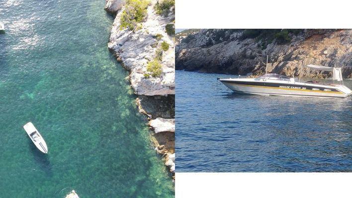 El Gob alerta sobre la presencia de embarcaciones fondeadas sobre posidonia en Calvià y Artà