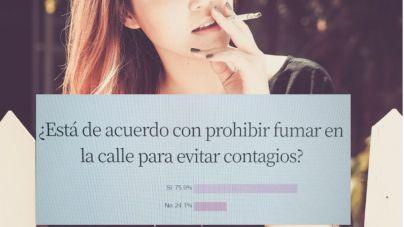 El 75,9 por ciento de encuestados, a favor de prohibir fumar en la calle