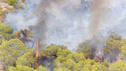 La Guardia Civil investiga el incendio de Sant Antoni de Portmany