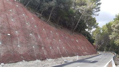 Inauguran la reparación de la carretera entre Alaró y Orient dañada por 'Gloria' en enero