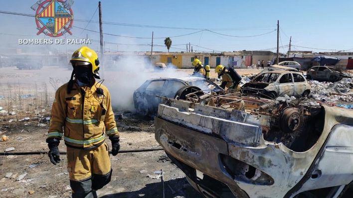 Arde un coche en Son Banya