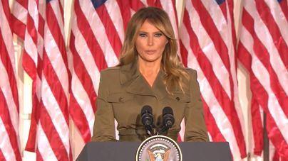 Melania Trump llama a la unidad y suaviza el agresivo discurso republicano