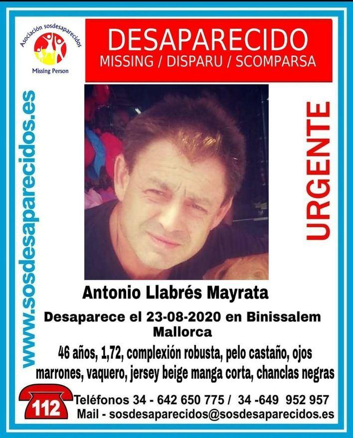 Buscan a un hombre desaparecido en Binissalem desde el 23 de agosto