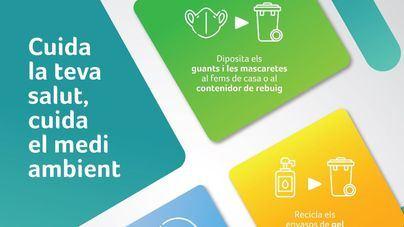 Las farmacias de Baleares lanzan una campaña para concienciar sobre cómo desechar mascarillas y guantes