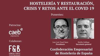 La cúpula de la Confederación Empresarial de Hostelería de España, protagonistas de los Desayunos de mallorcadiario.com