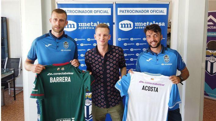 El Atlético Baleares presenta al mediocentro Álex Barrera y al lateral Miguel Acosta